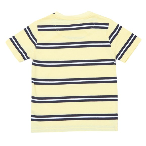 Lyle And Scott Junior Boys Yellow Wide Double Stripe T-Shirt main image