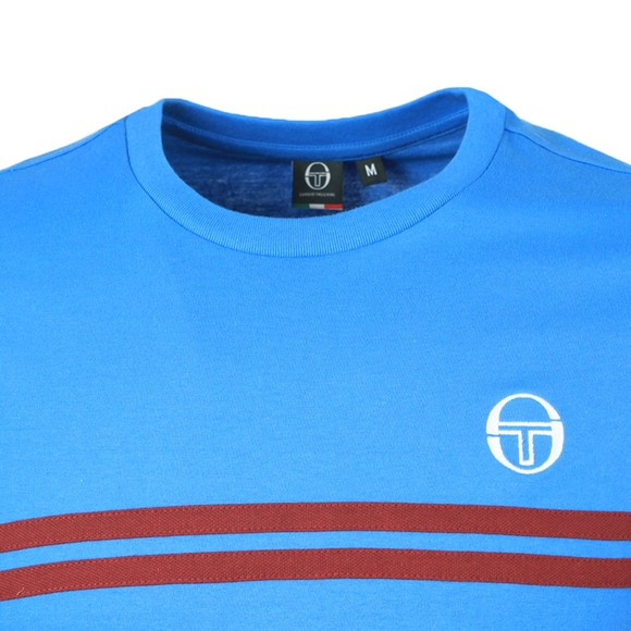 Sergio Tacchini Mens Campanula/Bordeaux S/S Supermac T-Shirt