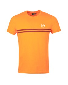 Sergio Tacchini Mens Tangelo/Bordeaux S/S Supermac Tee