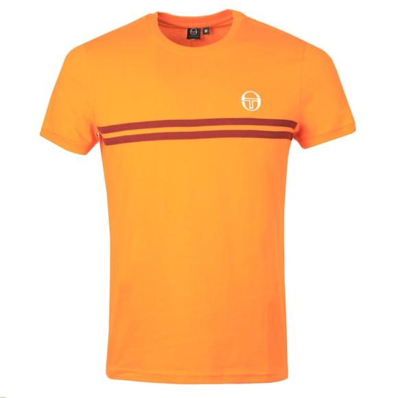 Sergio Tacchini Mens Tangelo/Bordeaux S/S Supermac T-Shirt