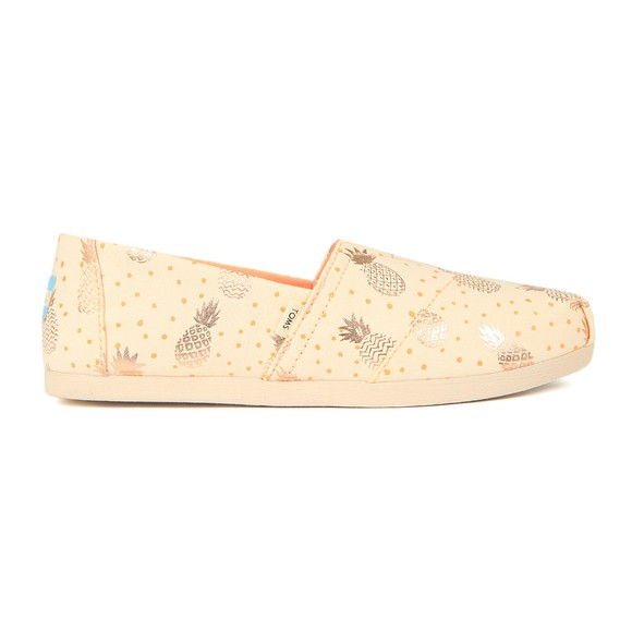 Toms Womens Gold Classic Canvas main image