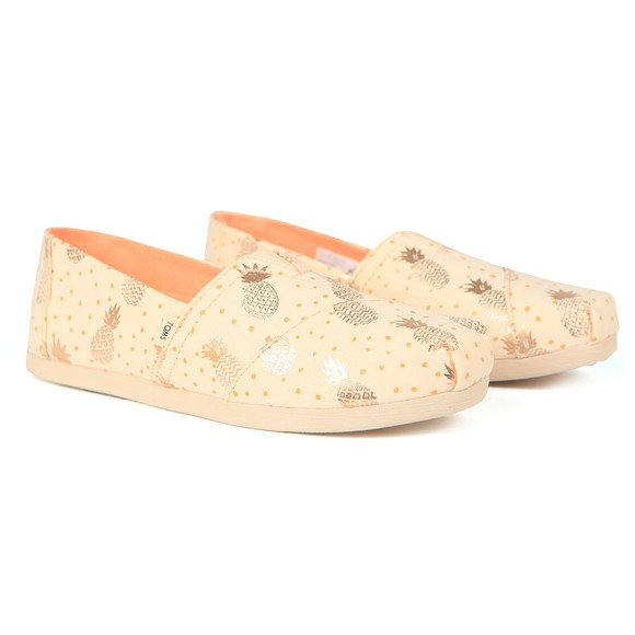 Toms Womens Gold Classic Canvas
