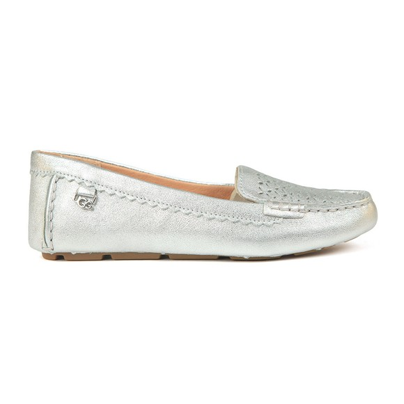 Ugg Womens Silver Bev Metallic Loafer