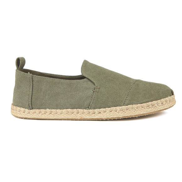 Toms Mens Green Deconstructed Alpargata Rope Sole