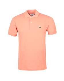 Lacoste Mens Pink L1212 Plain Polo Shirt