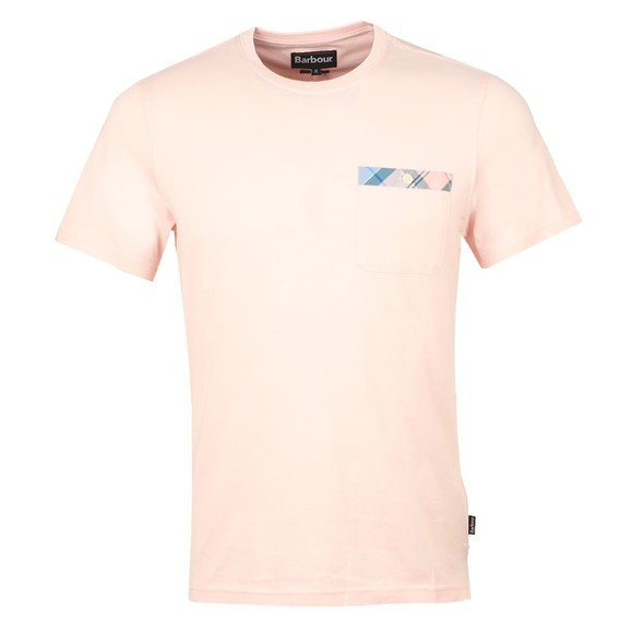 Barbour Lifestyle Mens Pink Durness Pocket T-Shirt