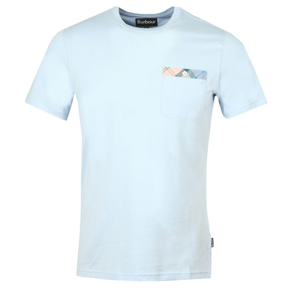 Barbour Lifestyle Mens Blue Durness Pocket T-Shirt
