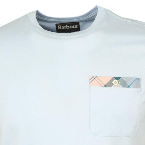 Barbour Lifestyle Mens Blue Durness Pocket T-Shirt main image