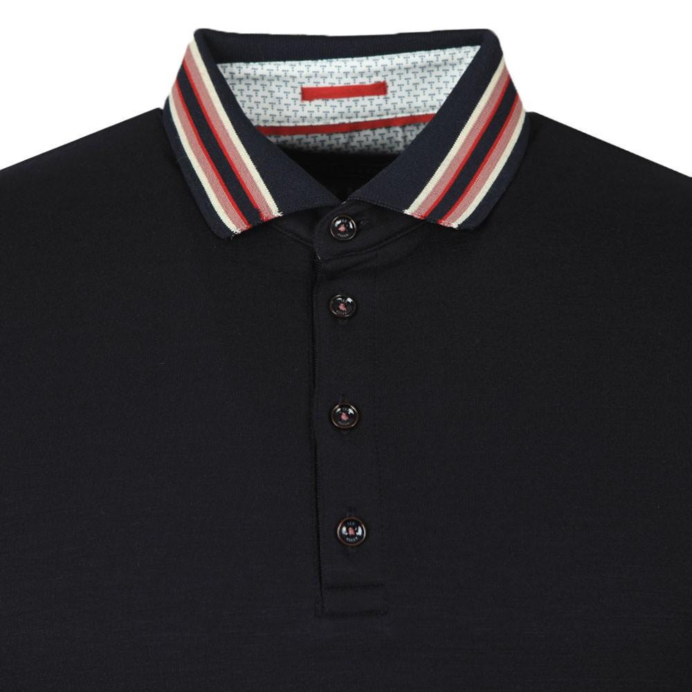 TEACUPS Striped Collar Polo main image