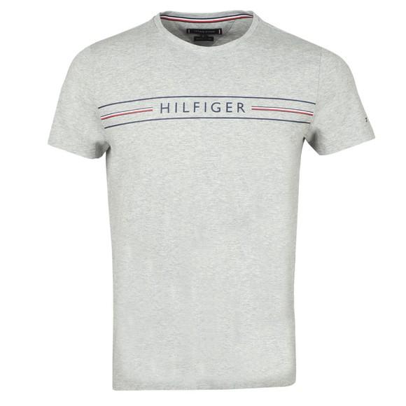 Tommy Hilfiger Mens Grey Corp Hilfiger T-Shirt