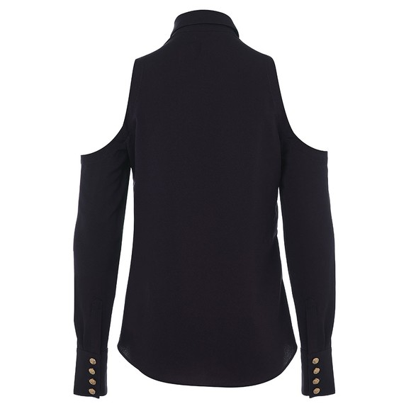 Holland Cooper Womens Black Luxe Cold Shoulder Shirt main image