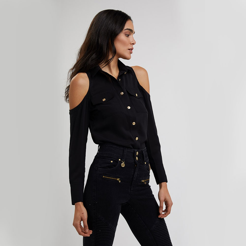 Luxe Cold Shoulder Shirt main image