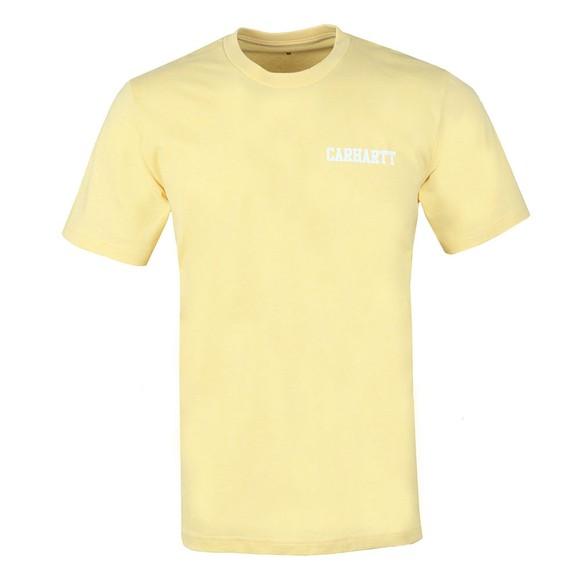 Carhartt WIP Mens Fresco/White Carhartt College Script T-Shirt  main image
