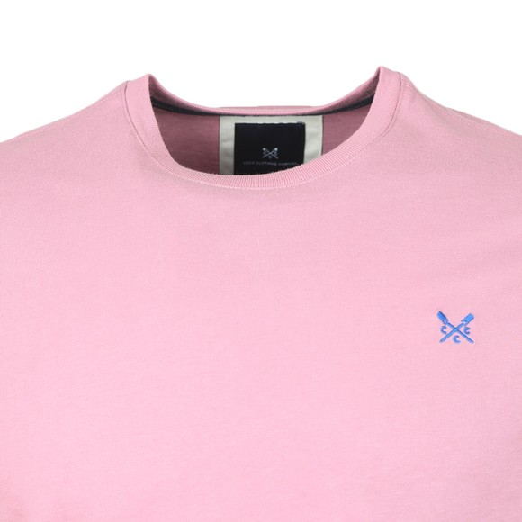 Crew Clothing Company Mens Pink Classic T-Shirt