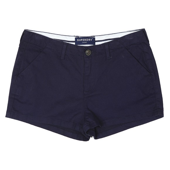 Superdry Womens Blue Chino Hot Short