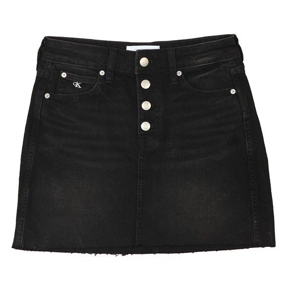 Calvin Klein Jeans Womens Black Mid Rise Mini Skirt