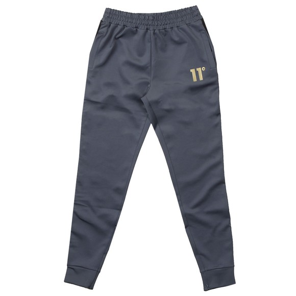 Eleven Degrees Mens Grey Taped Poly Track Pants