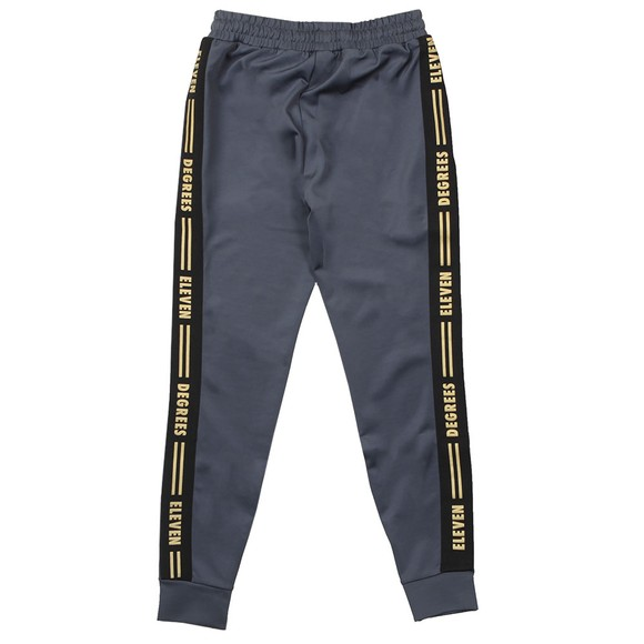 Eleven Degrees Mens Grey Taped Poly Track Pants main image