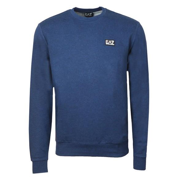 EA7 Emporio Armani Mens Blue Small Logo Sweatshirt