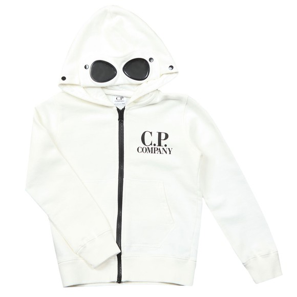 C.P. Company Undersixteen Boys Off-White Full Zip Goggle Hoody