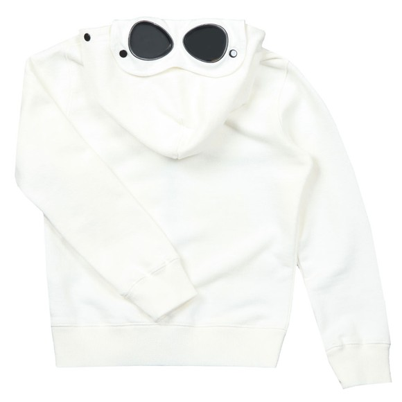 C.P. Company Undersixteen Boys Off-White Full Zip Goggle Hoody main image