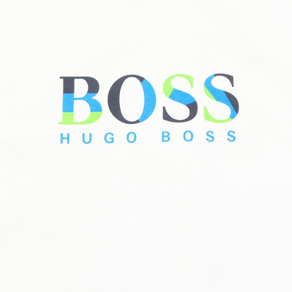 BOSS Boys White J25G17 Tank Top