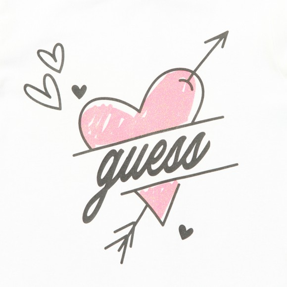 Guess Girls White Big Heart T-Shirt