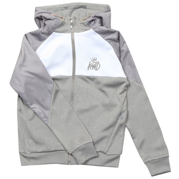 Kings Will Dream Boys Grey Yeddon Nylon Shoulder Hoody
