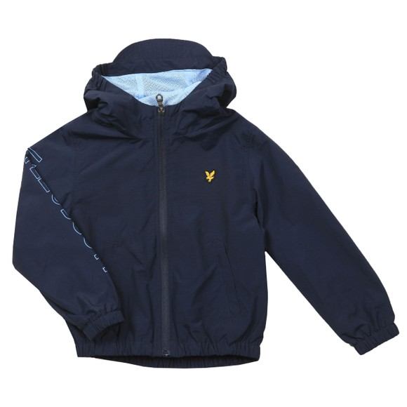 Lyle And Scott Junior Boys Blue Graphic Zip Through Windcheater Jacket