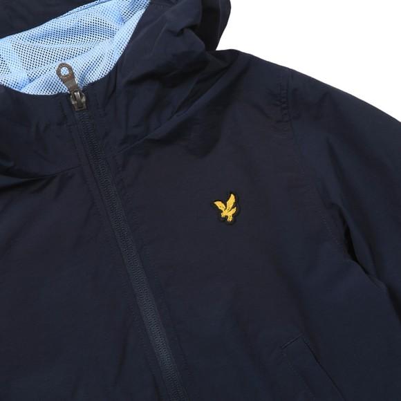 Lyle And Scott Junior Boys Blue Graphic Zip Through Windcheater Jacket