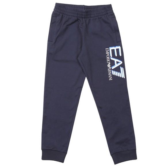 EA7 Emporio Armani Boys Blue Large Logo Jogger