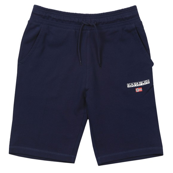 Napapijri Mens Blue Bermuda Nert Small Logo Short