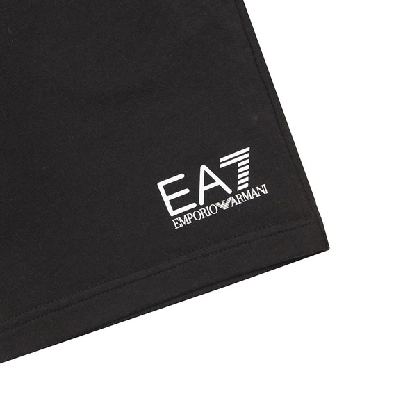 EA7 Emporio Armani Boys Black Small Logo Jersey Shorts main image