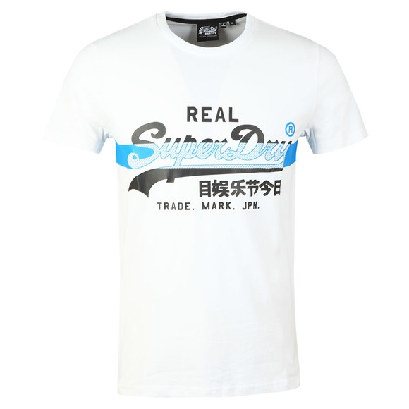 Superdry Mens White VL Cross Hatch T-Shirt