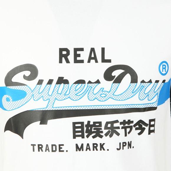 Superdry Mens White VL Cross Hatch T-Shirt main image