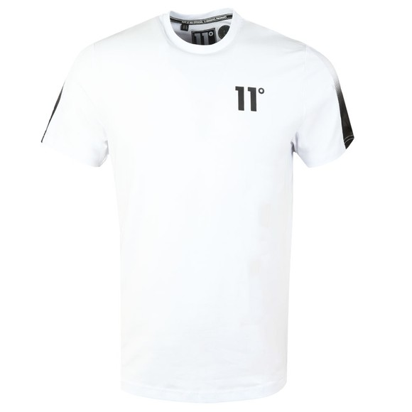 Eleven Degrees Mens White Dot Fade Panelled T-Shirt main image