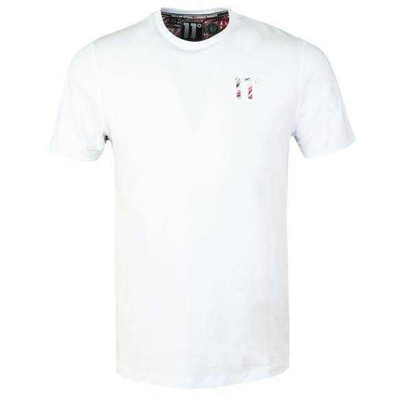 Eleven Degrees Mens White Logo T-Shirt