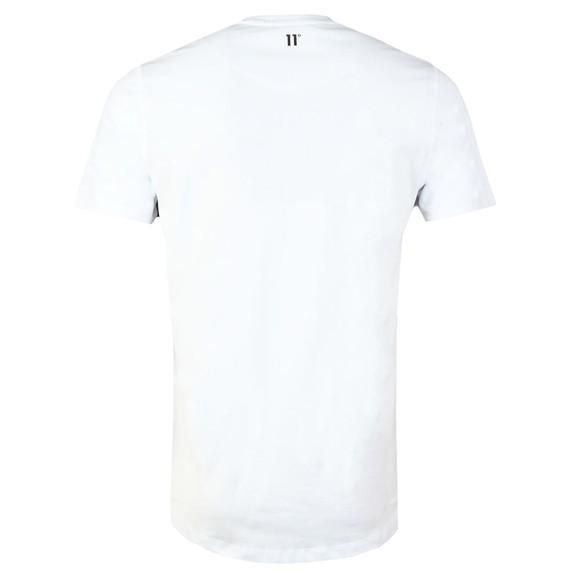 Eleven Degrees Mens White Logo T-Shirt main image