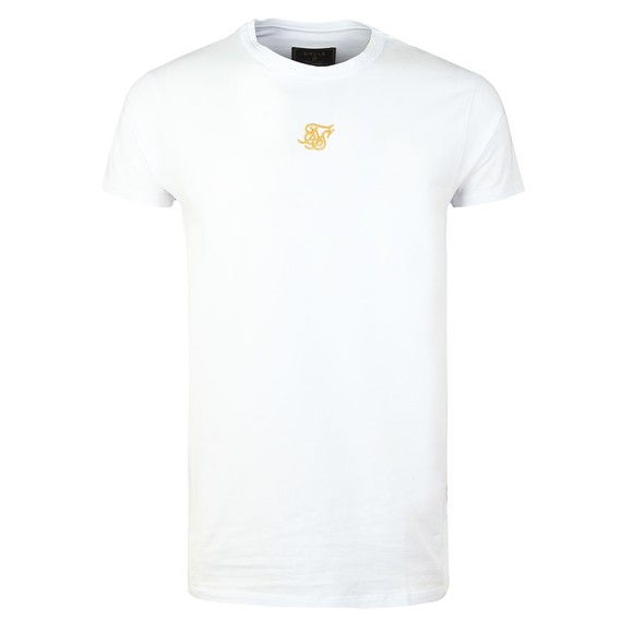 Sik Silk Mens White Reverse Collar T-Shirt