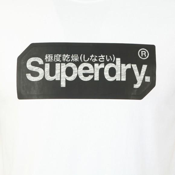 Superdry Mens White Core Logo Tag T-Shirt main image