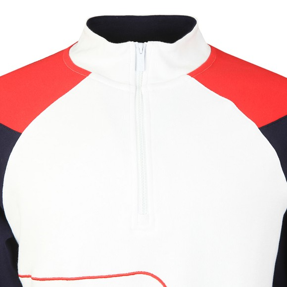 Fila Mens White Fenwick 1/4 Zip Sweatshirt