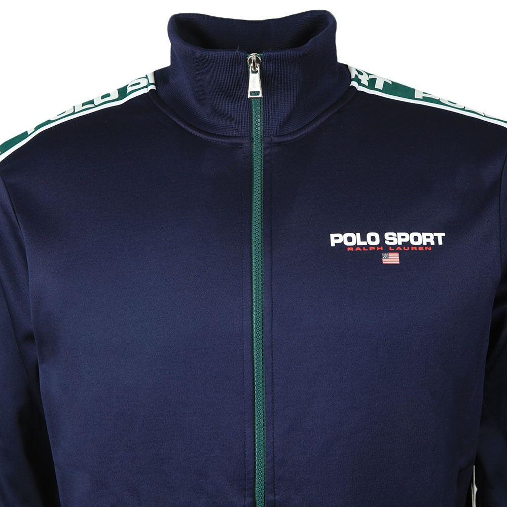 Shoulder Polo Tape Track Top main image