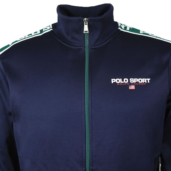 Polo Sport Ralph Lauren Mens Blue Shoulder Polo Tape Track Top main image