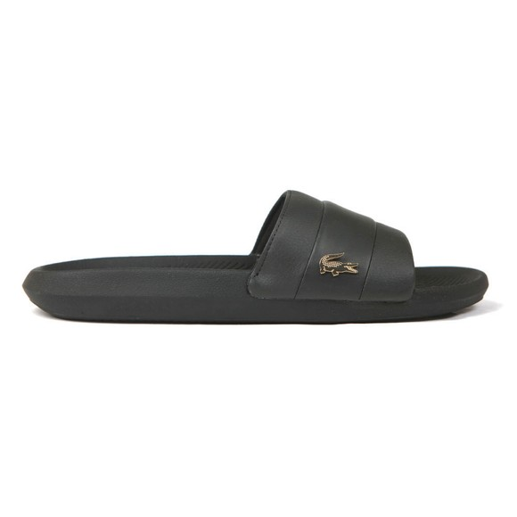 Lacoste Mens Black Croco Slide