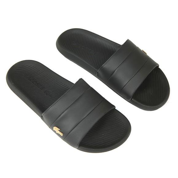 Lacoste Mens Black Croco Slide main image