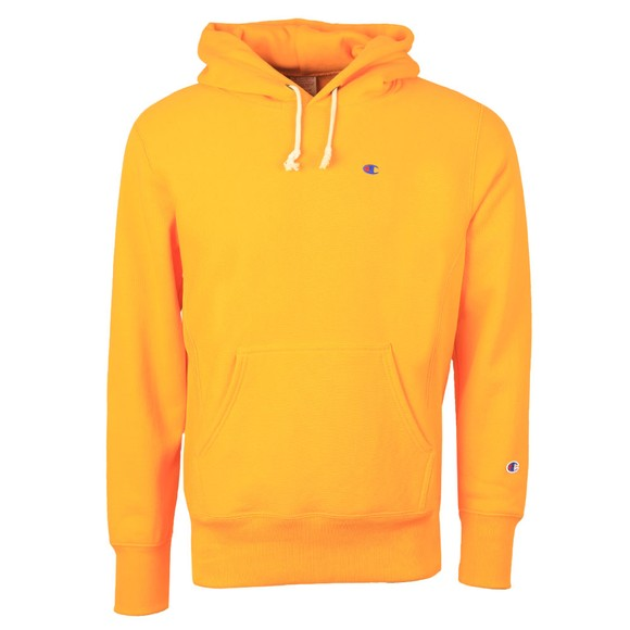 Champion Reverse Weave Mens Orange Reverse Weave Hoodie