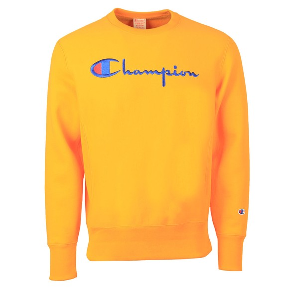 Champion Reverse Weave Mens Orange Reverse Weave Sweatshirt
