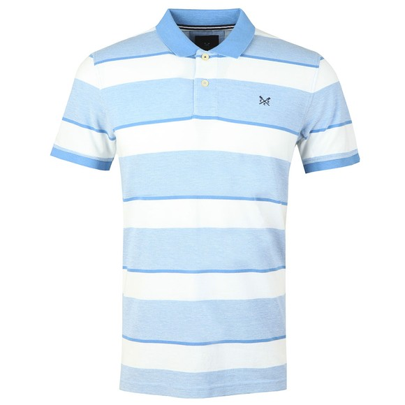 Crew Clothing Company Mens Blue Oxford Polo Shirt main image