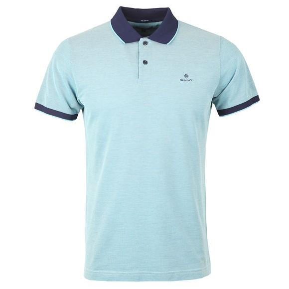 Gant Mens Blue Oxford Rugger Polo Shirt