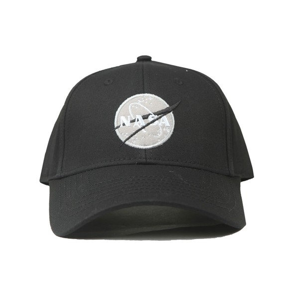 Alpha Industries Mens Black NASA Cap